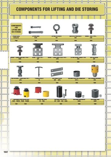Misumi Catalog Pg1047-1060 - Components for Lifting and Die Storage