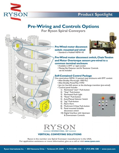Pre-Wiring and Controls Options