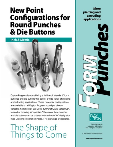 New Point Configurations for Round Punches & Die Buttons