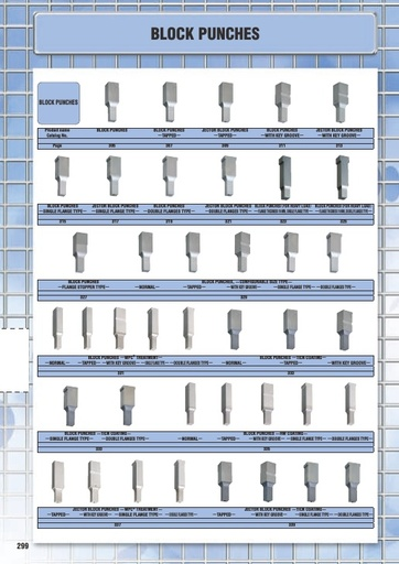 Misumi Catalog Pg 299-366 - Block Punches