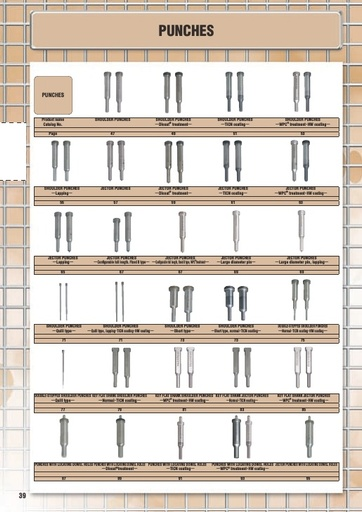 Misumi Catalog Pg  38-191 - Punches