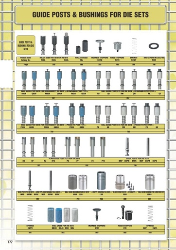 Misumi Catalog Pg 777-808 - Guide Posts & Bushings for Die Sets
