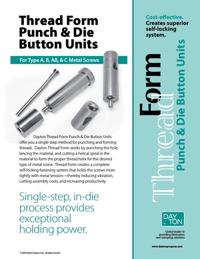 Thread Form Punch & Die Button Units