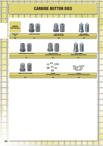 Misumi Catalog Pg 479-494 - Carbide Button Dies