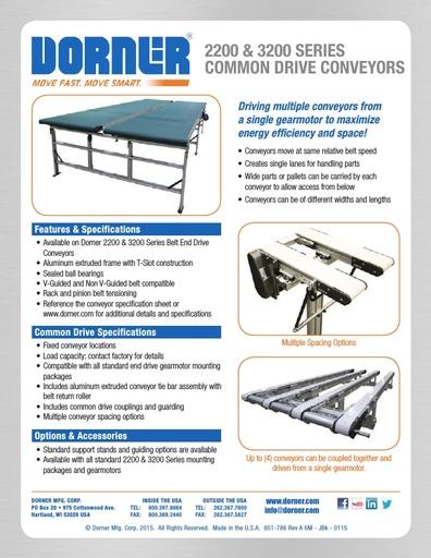 Common Drive Conveyors