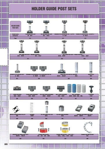 Misumi Catalog Pg 809-843 - Holder Guide Post Sets