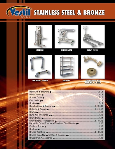 Stainless Steel & Bronze
