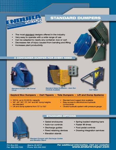 Hydraulic Container Dumpers