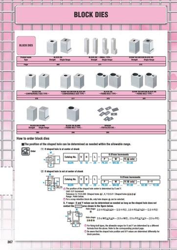 Misumi Catalog Pg 367-387 - Block Dies