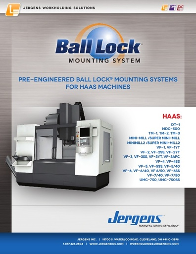 Ball Lock® Mounting Systems for HAAS Machines