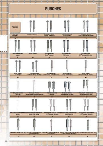 Misumi Catalog Pg  38-191 - Punches