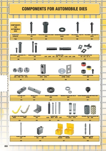 Misumi Catalog Pg 859-880 - Components for Automobile Dies