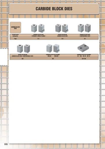 Misumi Catalog Pg 515-526 - Carbide Block Dies