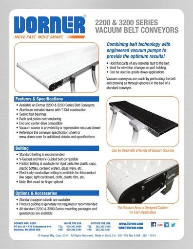 Vacuum Belt Conveyors