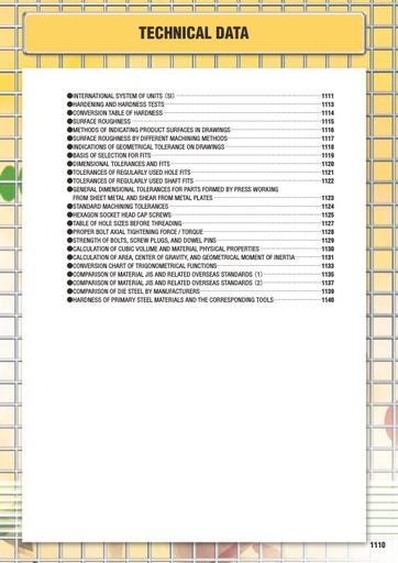 Misumi Catalog Pg1110-1141 - Technical Data
