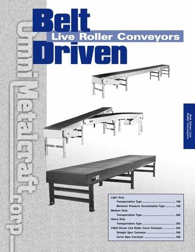 Belt Driven Live Roller Conveyors