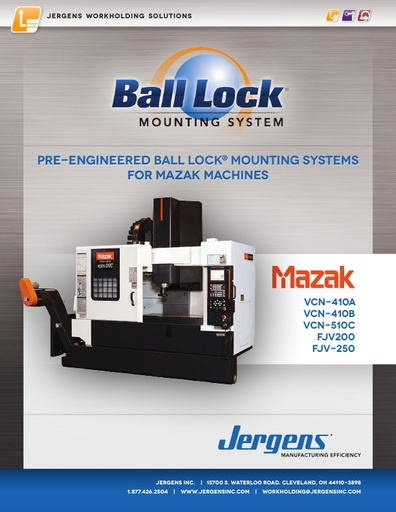 Ball Lock® Mounting Systems for Mazak Machines