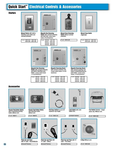 Electrical Controls and Accessories